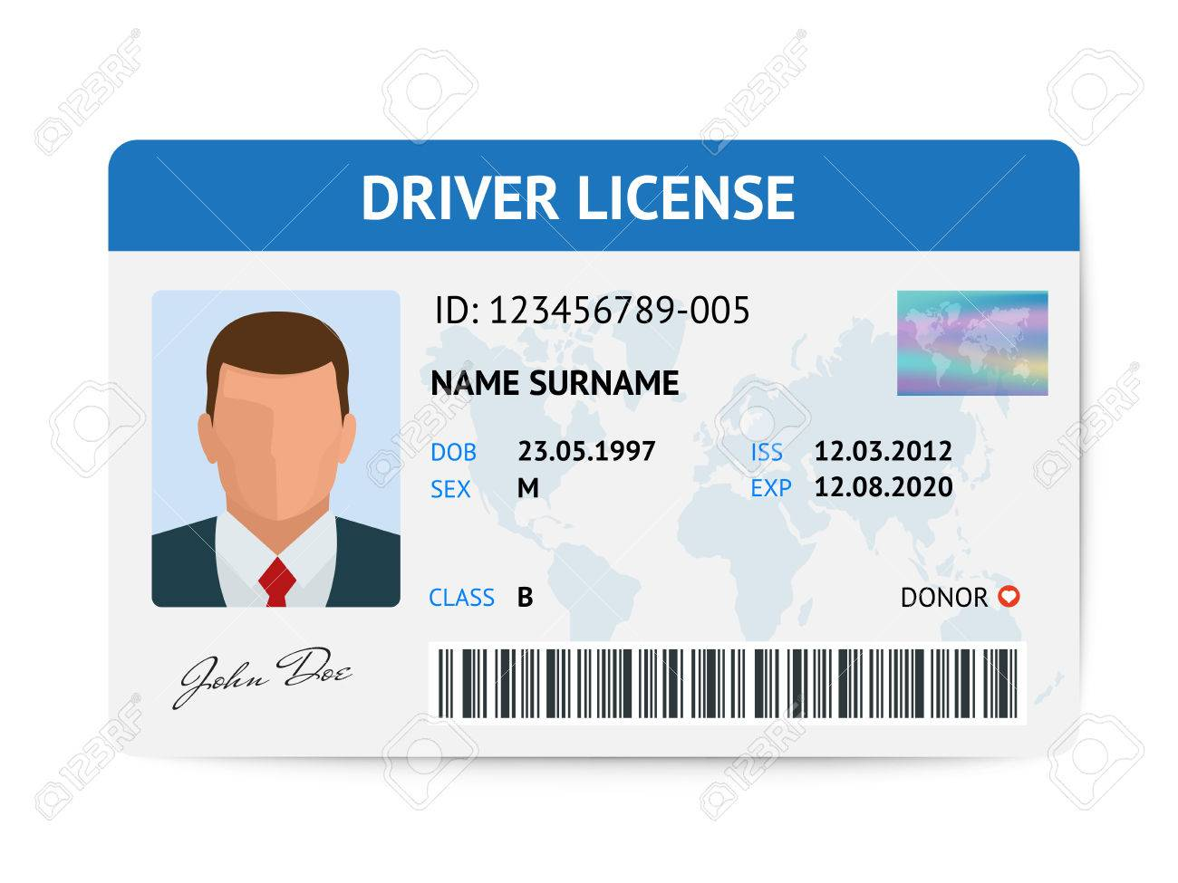 Front Licence Image
